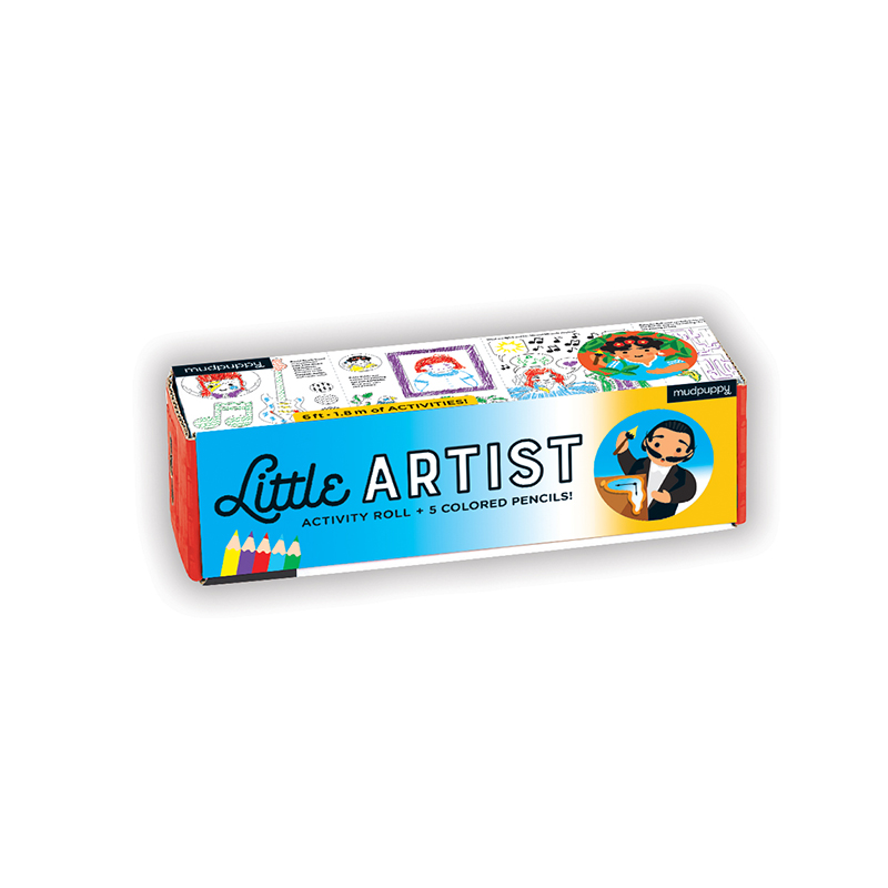 Little Artist colouring and games activity roll