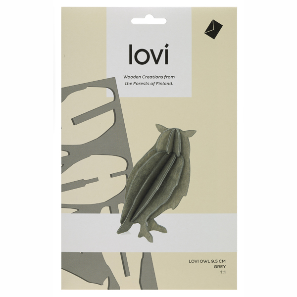 Grey owl wood flat pack construction kit