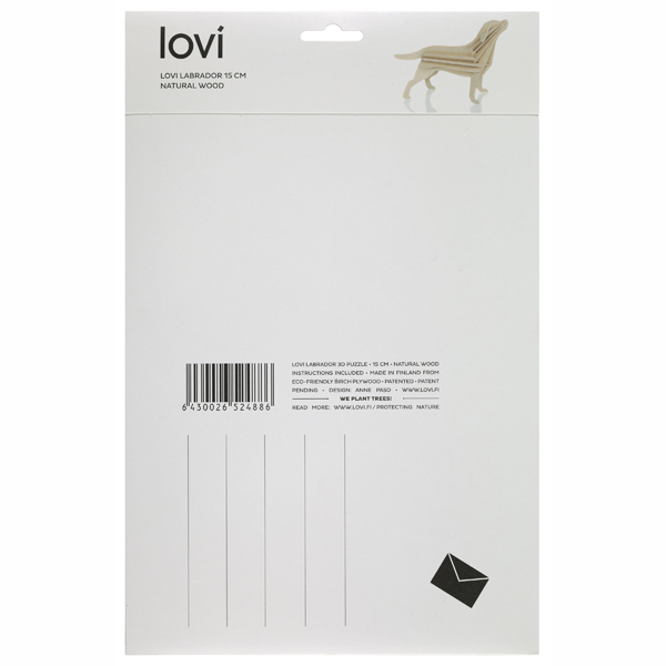 Lovi Natural Wood Labrador Construction Kit