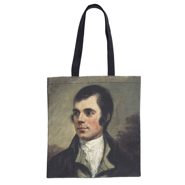Robert Burns by Alexander Nasmyth reusable canvas tote bag