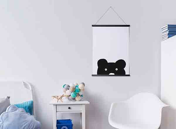 Magnetic wooden poster hanger (Black A2)