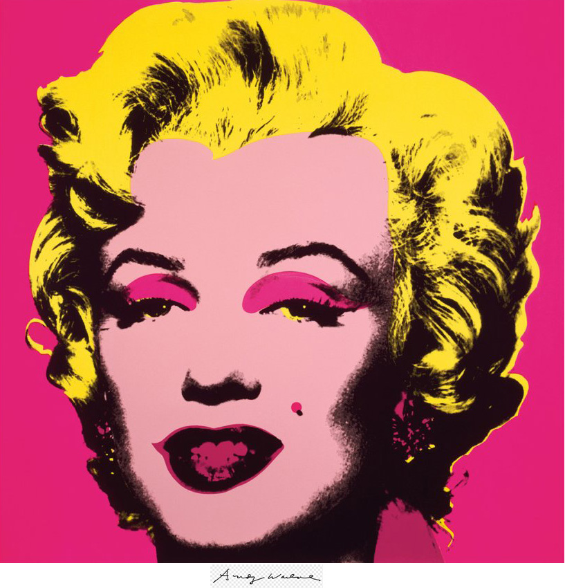 Marilyn Monroe, hot pink by Andy Warhol large poster print