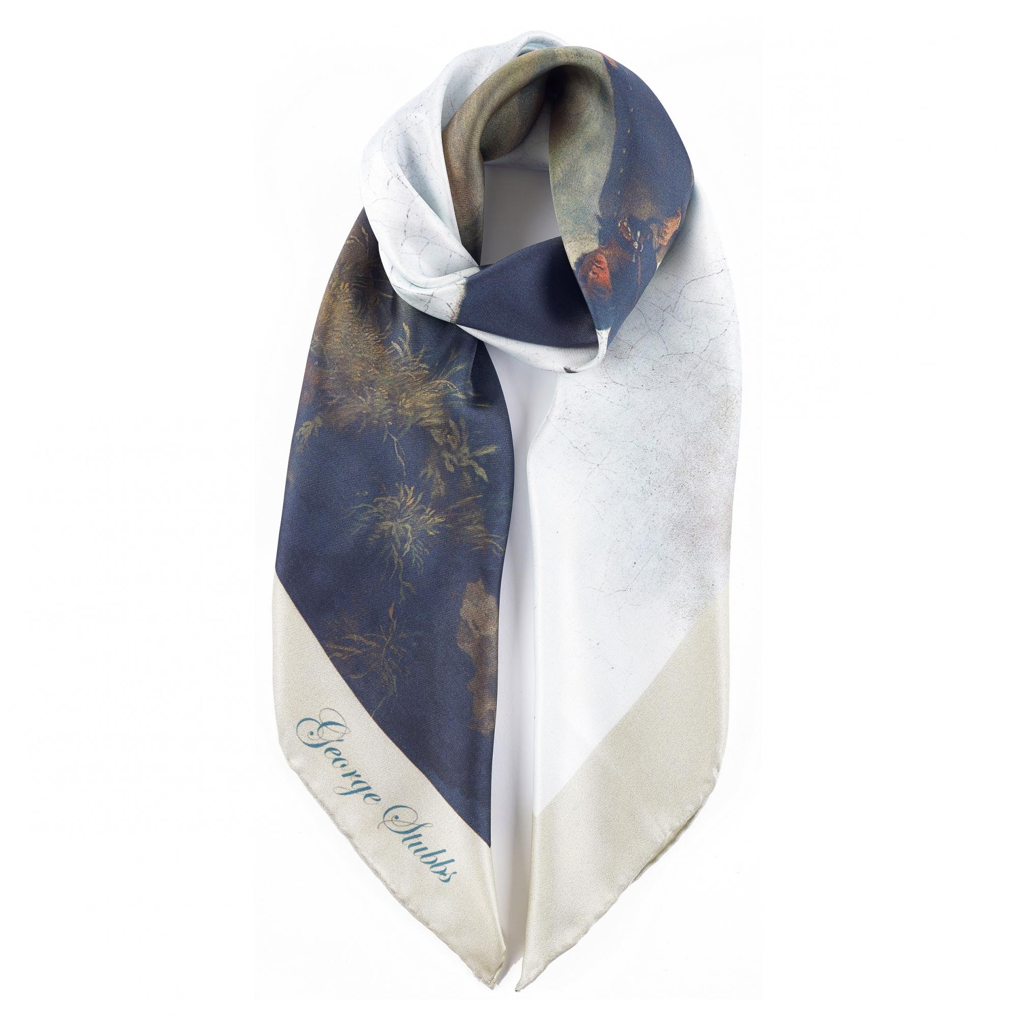 Marquess of Rockingham by George Stubbs silk scarf