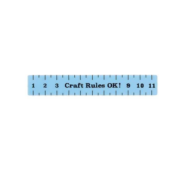 Measuring tape acrylic hair slide