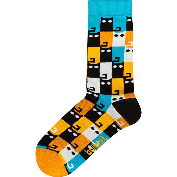 Meow colourful unisex cotton socks (size 4-7)