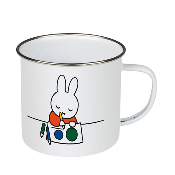 Miffy painting enamel mug