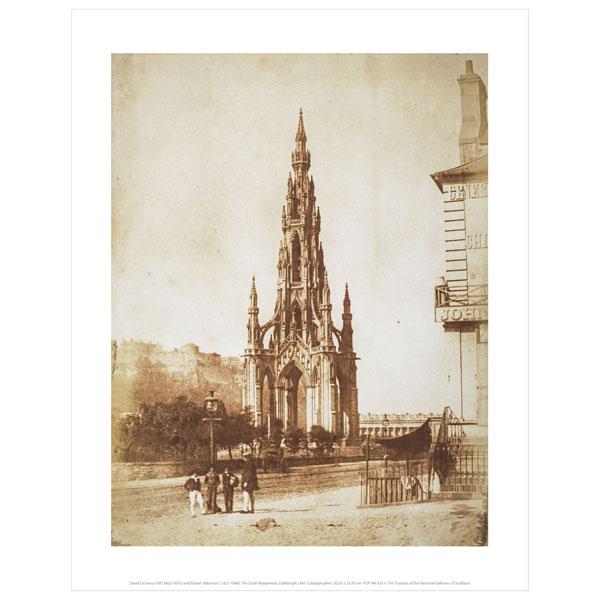 The Scott Monument Hill & Adamson Art Print