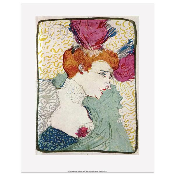 Mlle Marcelle Lender En Buste by Toulouse-Lautrec
