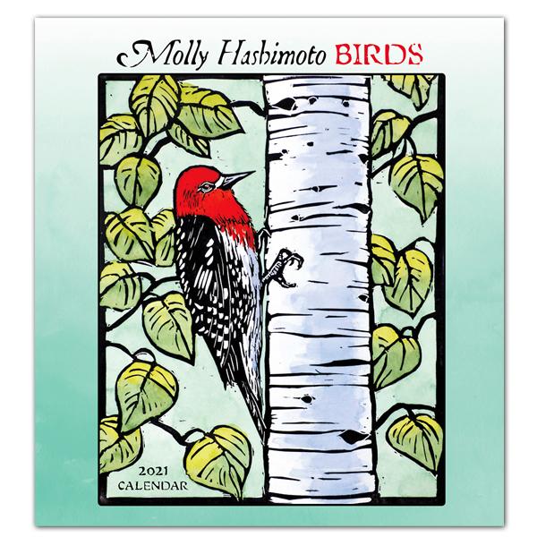 Molly Hashimoto: Birds 2021 wall calendar