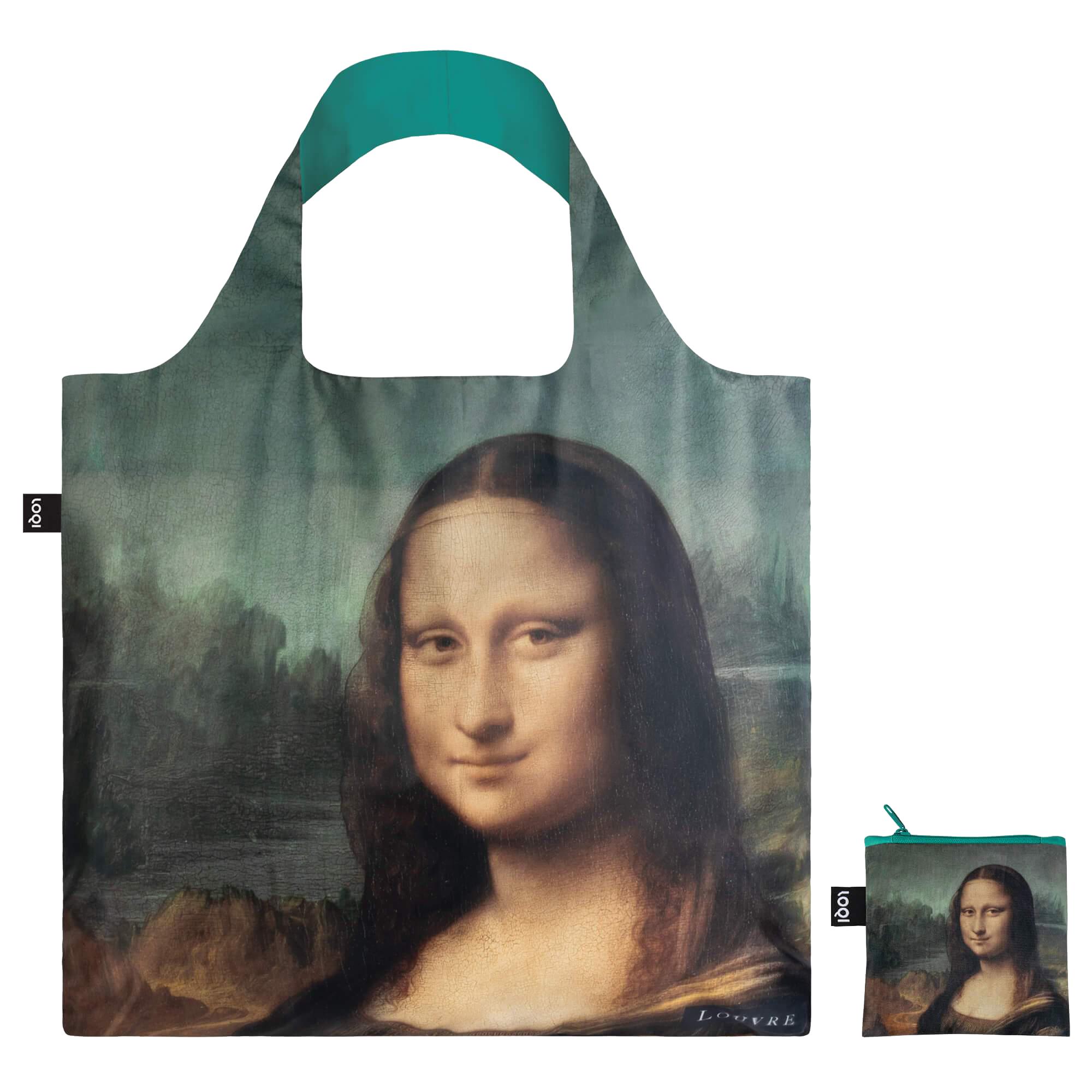 Mona Lisa reusable water-resistant carrier bag