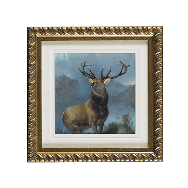 Monarch of the Glen ready to hang gold ornate framed print