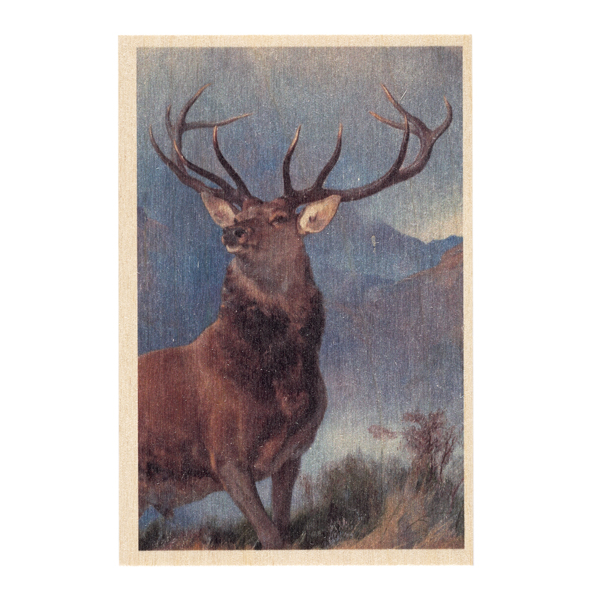 Monarch of the Glen by Sir Edwin Landseer wooden postcard