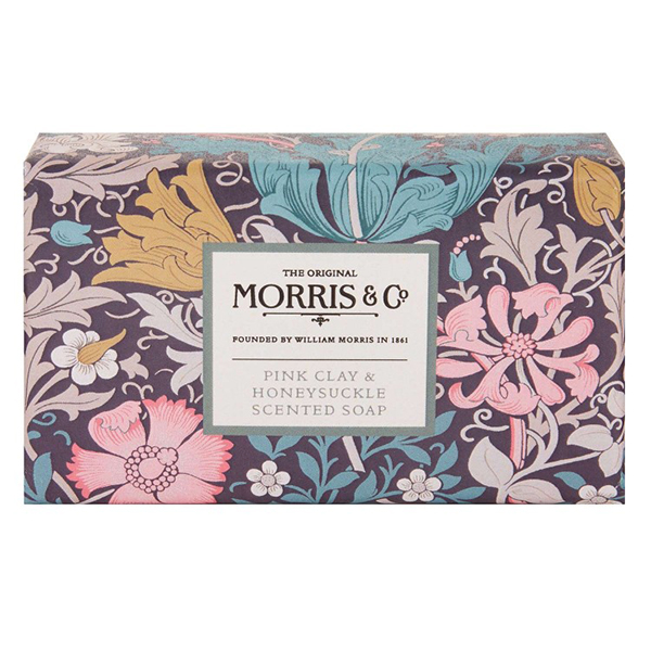 Morris & Co. pink clay & honeysuckle scented soap