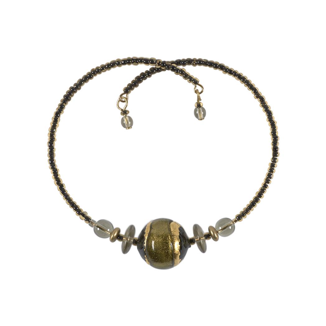 Murano glass black berenice bracelet