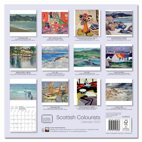 National Galleries of Scotland - Scottish Colourists 2020 Wall Calendar