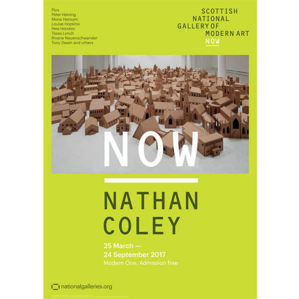NOW Nathan Coley exhibition poster