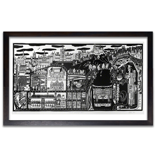 National Galleries of Scotland by Jane Hyslop limited edition print (edition number 98)