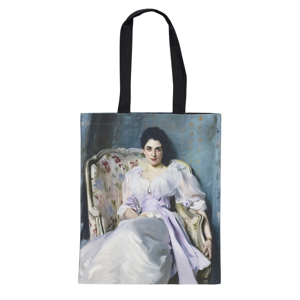 Lady Agnew by John Singer Sargent reusable canvas tote bag