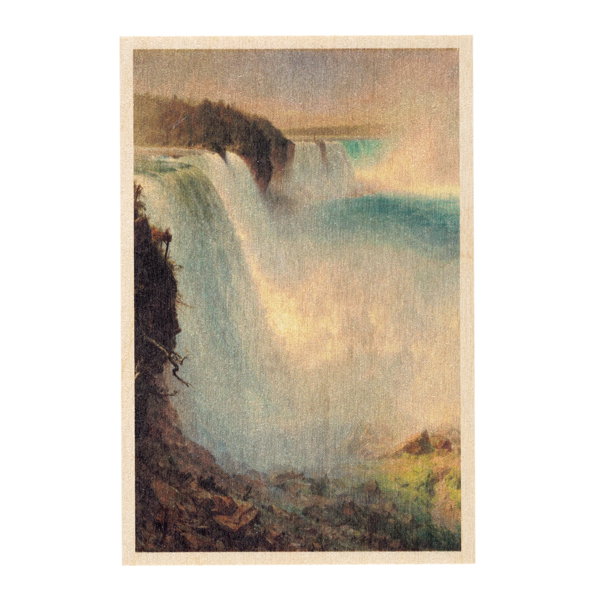Niagara Falls by Frederic Church wooden postcard