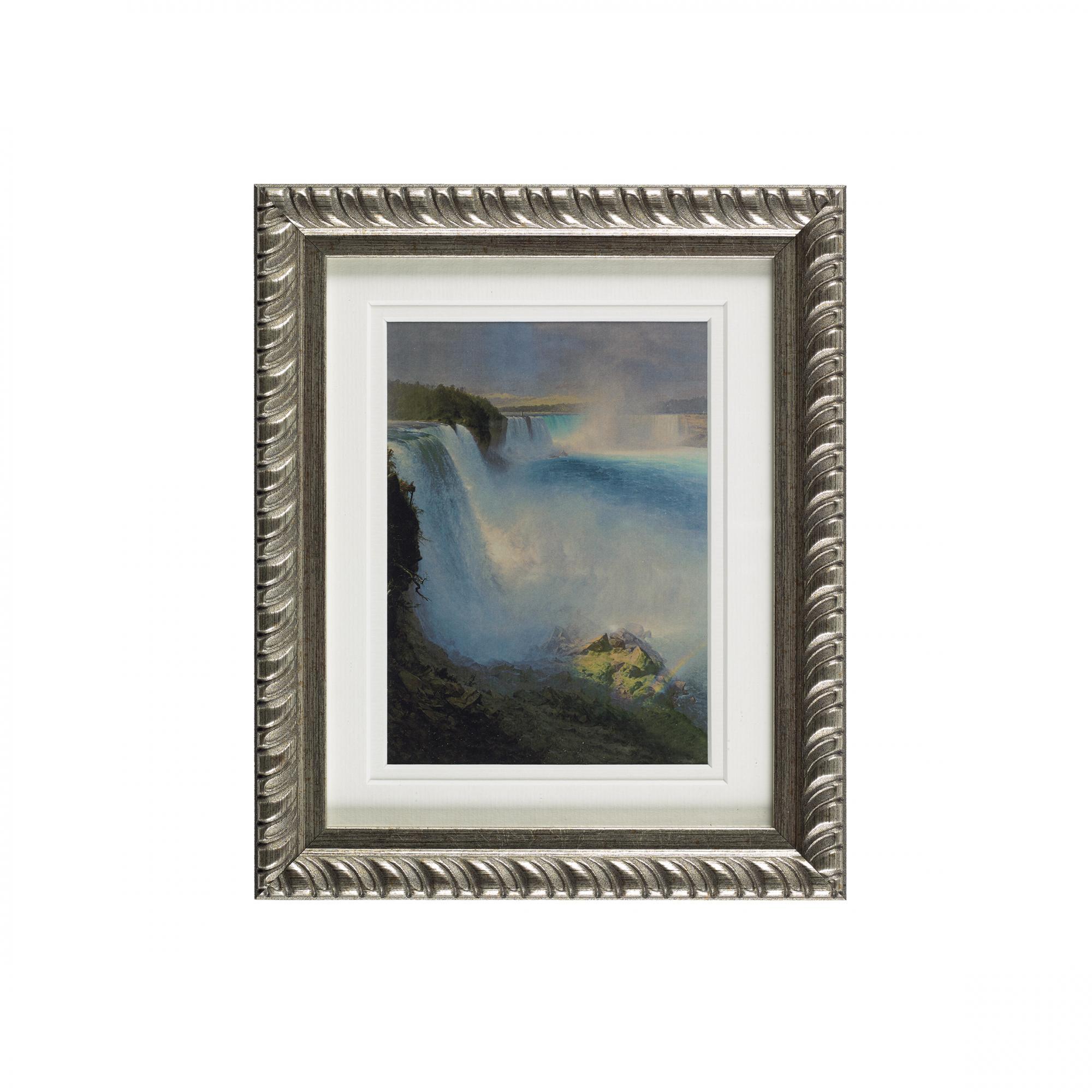 Niagara Falls ready to hang silver ornate framed print
