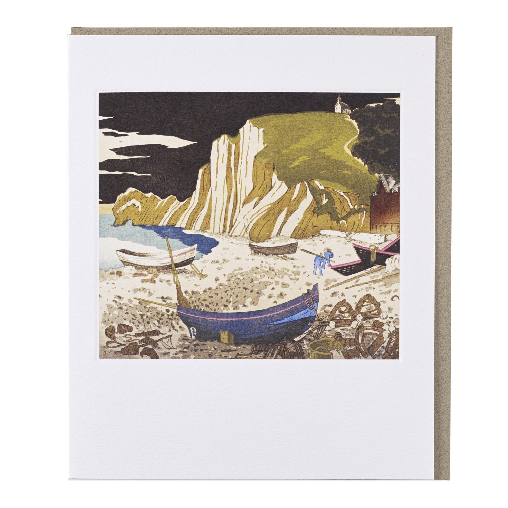 Normandy Beach by Ian Cheyne greeting card