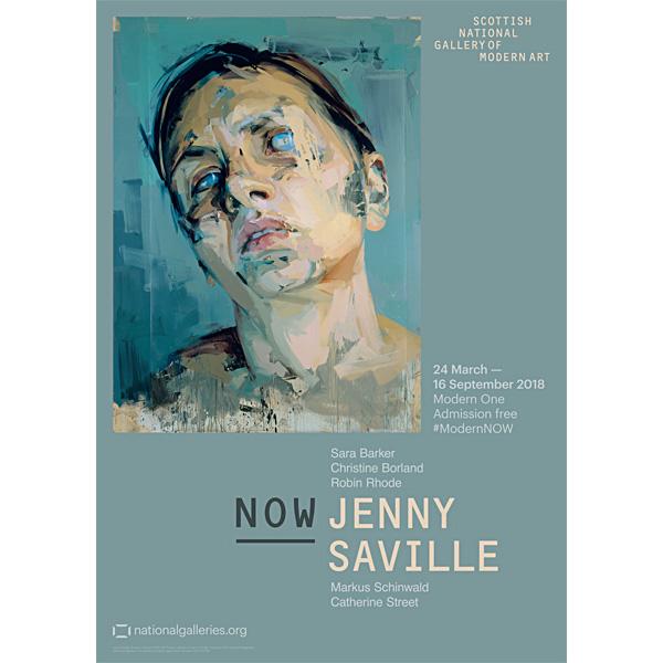 Rosetta II by Jenny Saville exhibition poster
