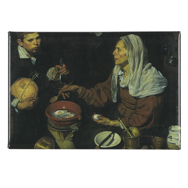 An Old Woman Cooking Eggs by Diego Velazquez magnet