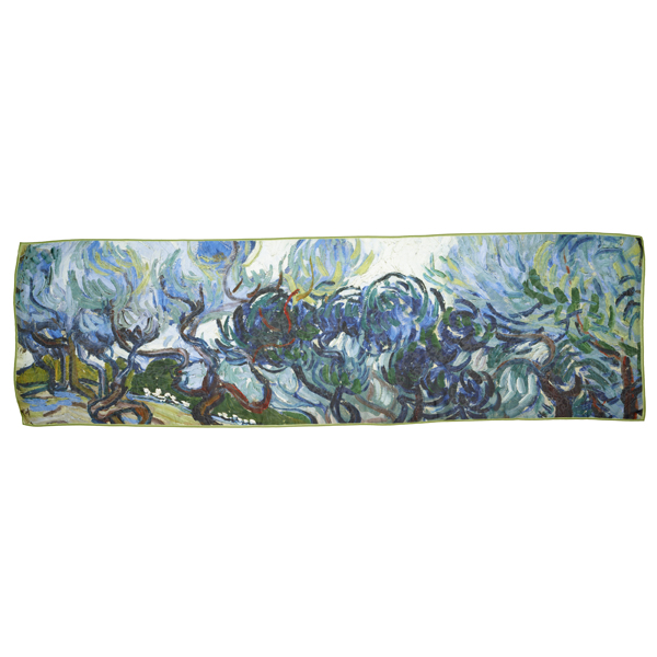 Olive Trees by Vincent van Gogh silk scarf
