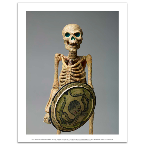 Original Skeleton model from Jason and the Argonauts, 1963 (octopus shield) art print
