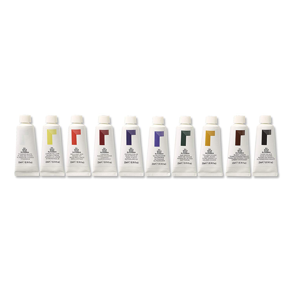 Pack of ten oil paint tubes (22ml)