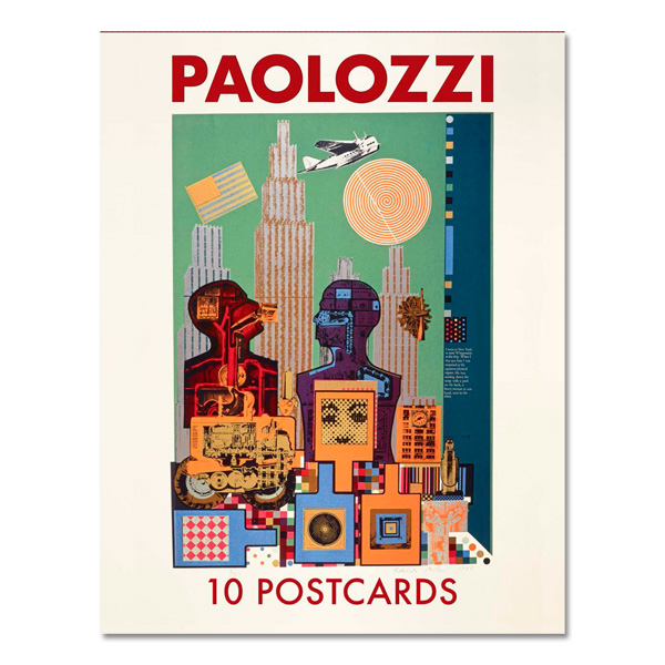 Warhol & Paolozzi I want to be a machine Exhibition Book + Paolozzi Postcard Pack Offer
