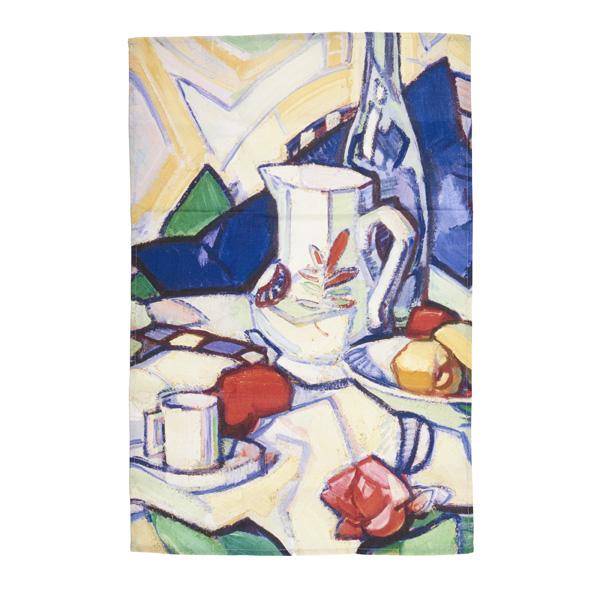 Still life by Samuel John Peploe tea towel