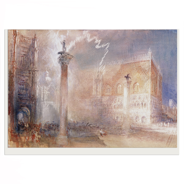 The Piazzetta, Venice by Joseph Mallord William Turner greeting card