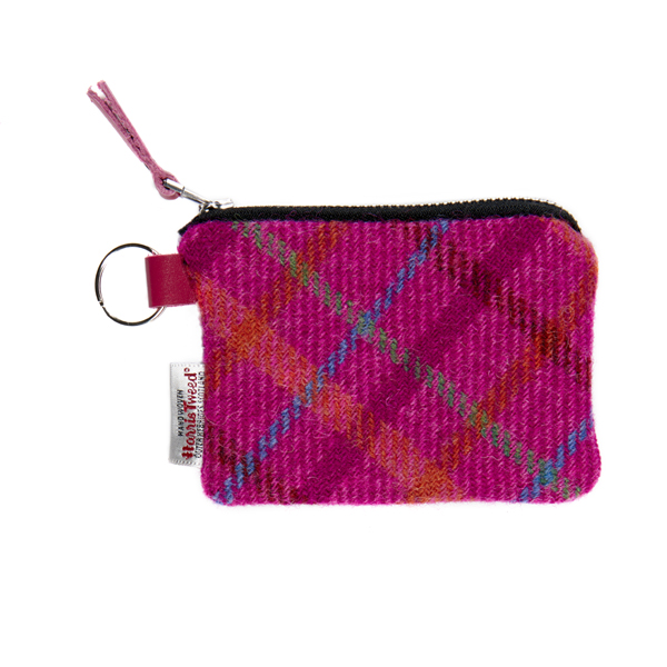 Clare O'Neill Purse Pink Check Harris Tweed
