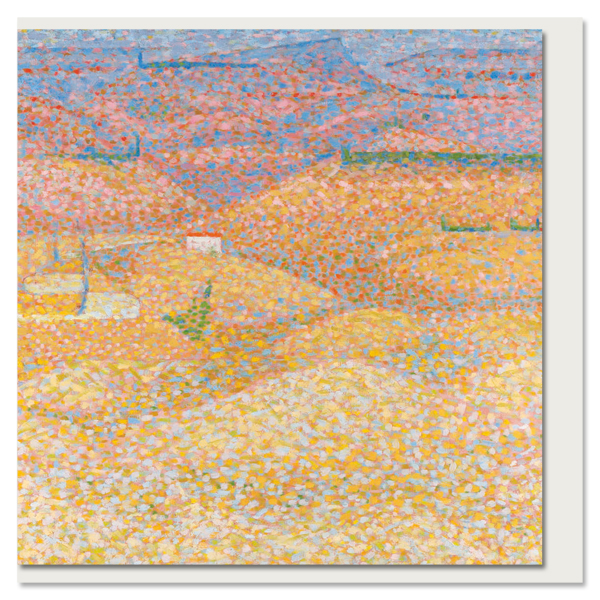 Pink Landscape by Bridget Riley greeting card