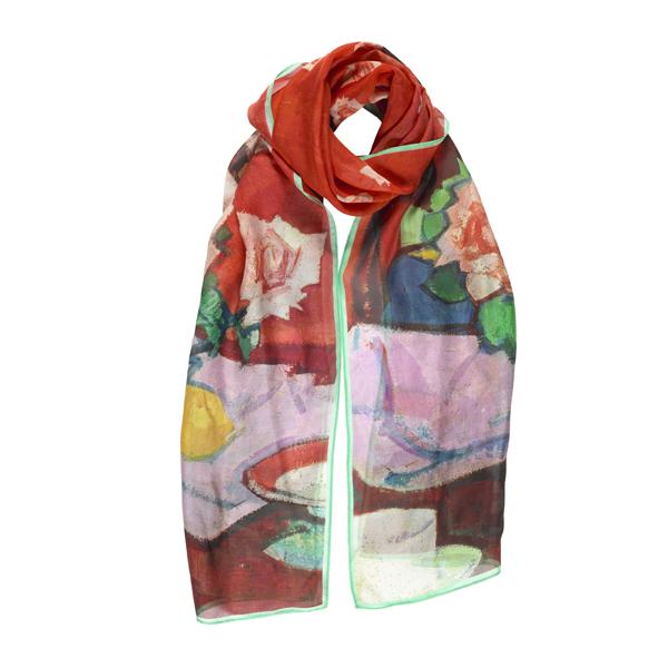 Pink Roses, Chinese Vase by Samuel John Peploe silk scarf
