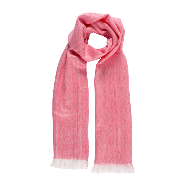 Pink alpaca scarf