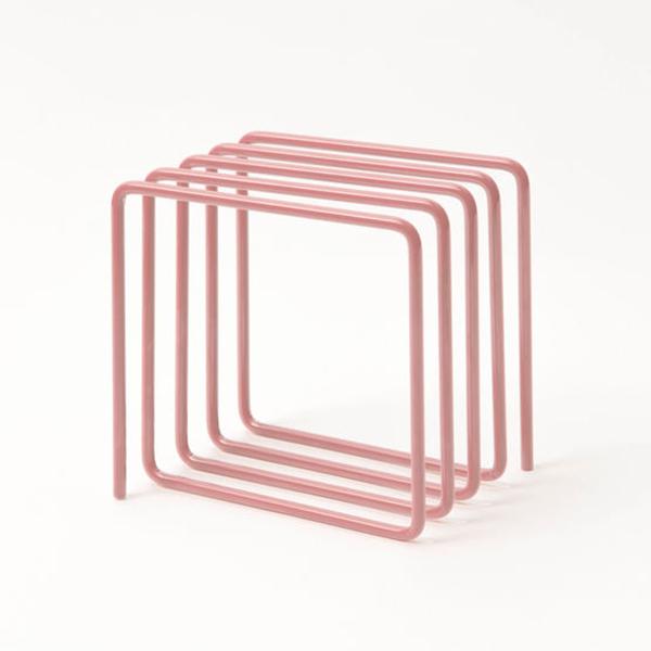 Pink loop magazine rack