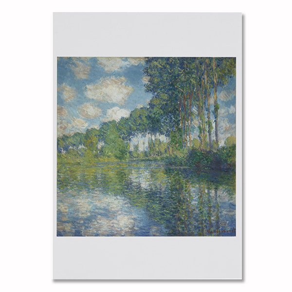 Poplars on the Epte by Claude Monet greeting card