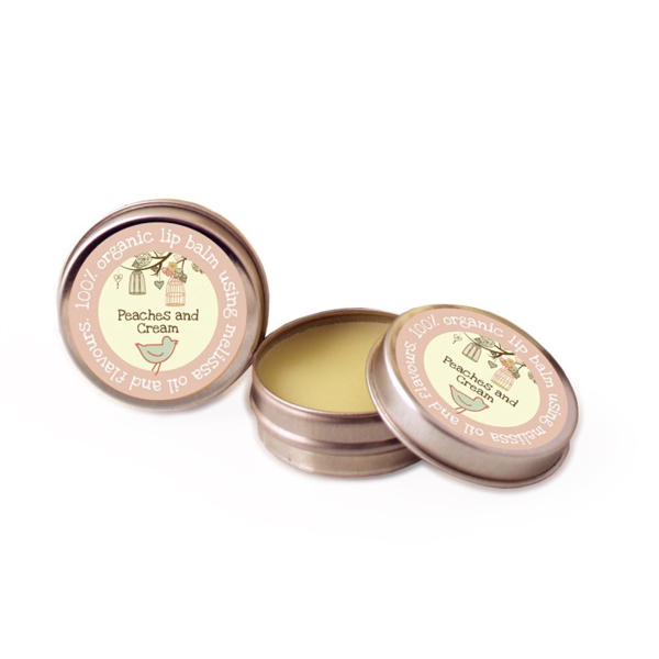 Organic Peaches and Cream Lip Balm
