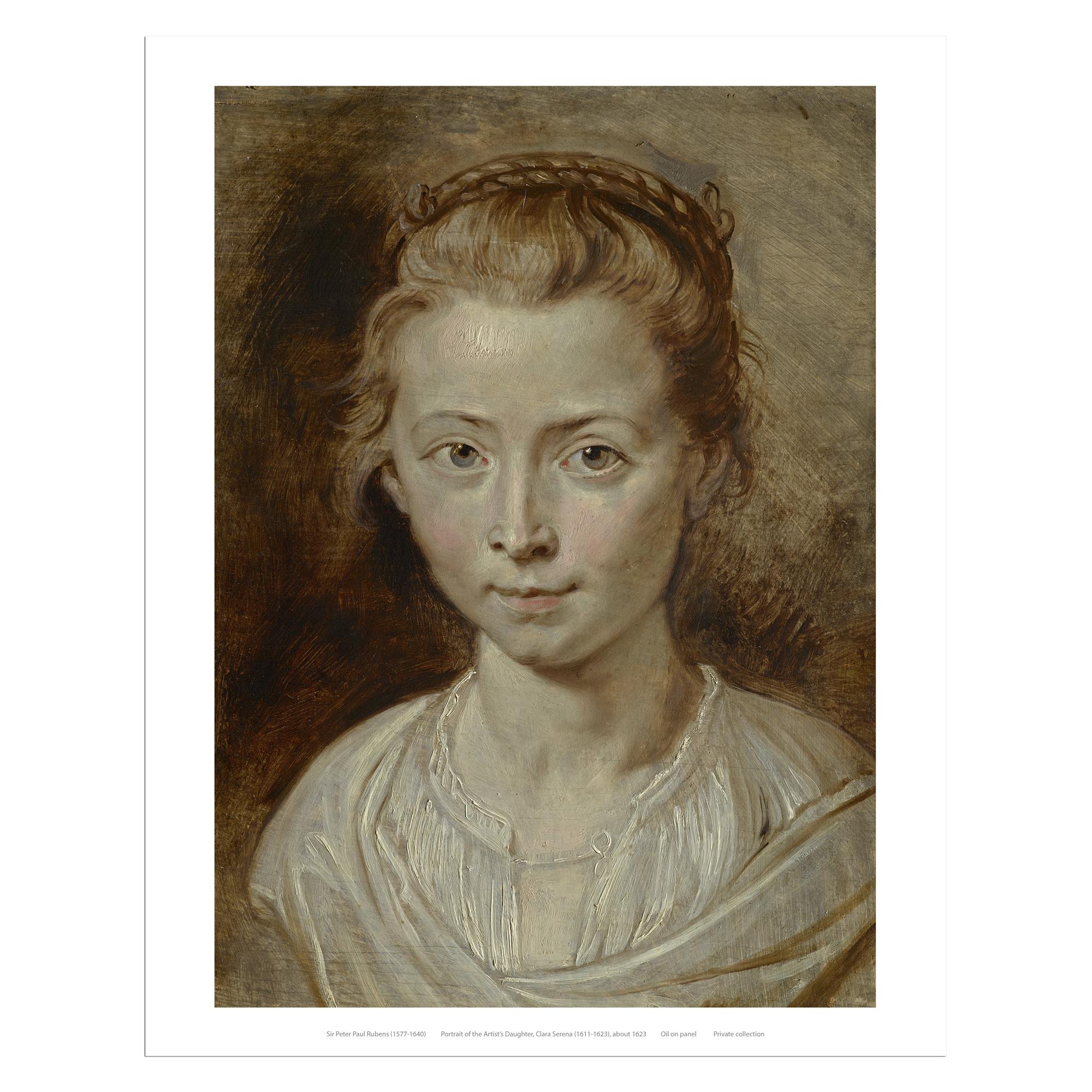 Portrait of the Artist's Daughter, Clara Serena by Sir Peter Paul Rubens art print