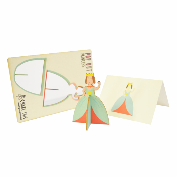 Princess pop out greeting card