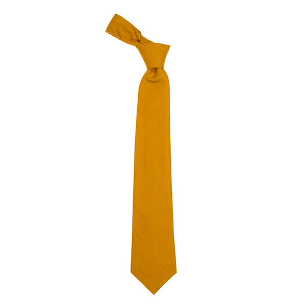 Pure fine wool gold tie