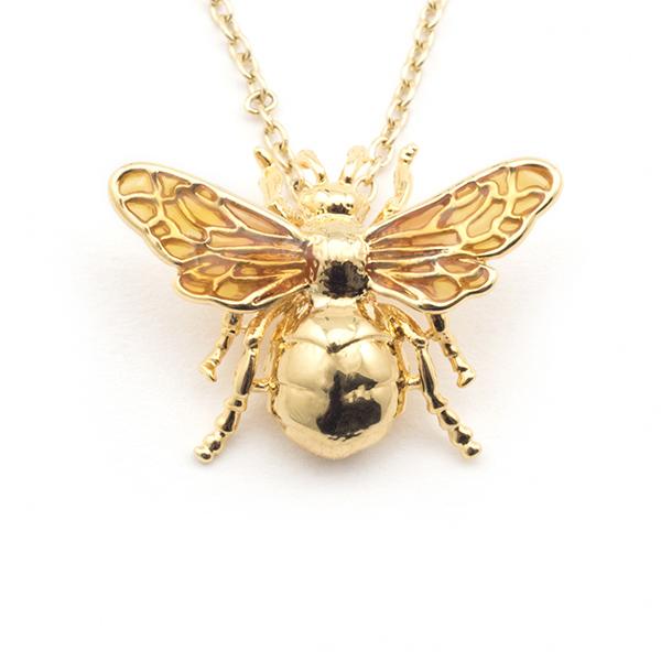 Queen bee statement pendant necklace
