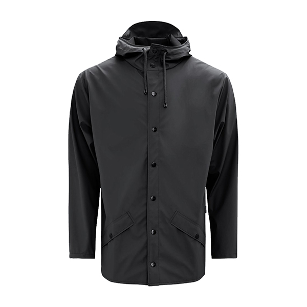 Waterproof black unisex jacket XS/S