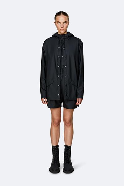 Waterproof black unisex jacket M/L