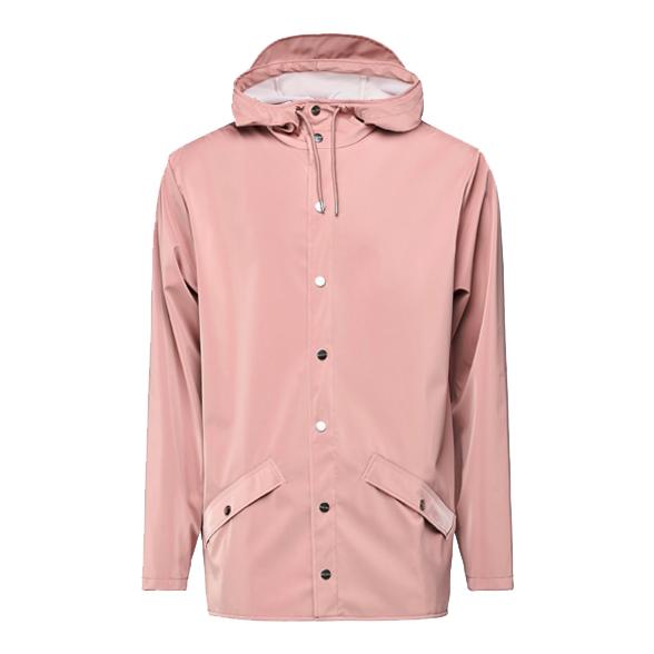 Waterproof coral pink unisex jacket S/M