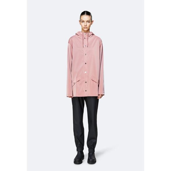 Waterproof coral pink unisex jacket M/L