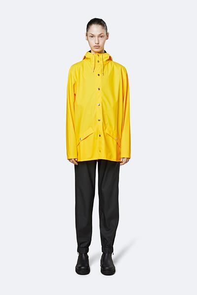 Waterproof yellow unisex jacket S/M