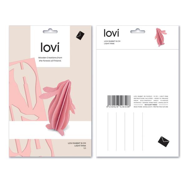Light pink rabbit flat pack construction kit